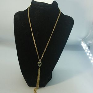 Necklace by Sonyarenee gold or bronze stone